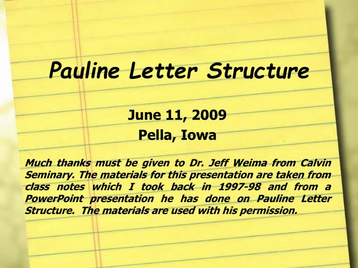 pauline letter structure n.