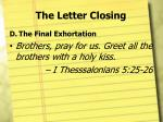 the letter closing4