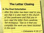 the letter closing6