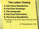 the letter closing7