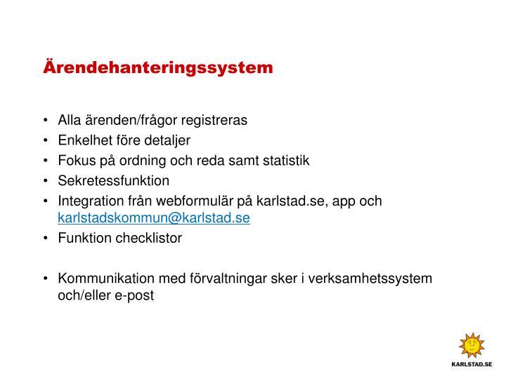 Ärendehanteringssystem