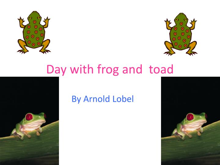 day with frog and toad n.