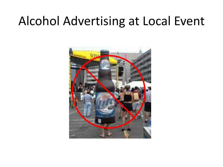 Alcohol Advertising at Local Event
