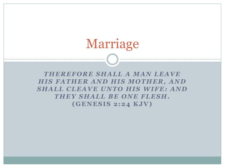 PPT - Marriage PowerPoint Presentation - ID:2489595