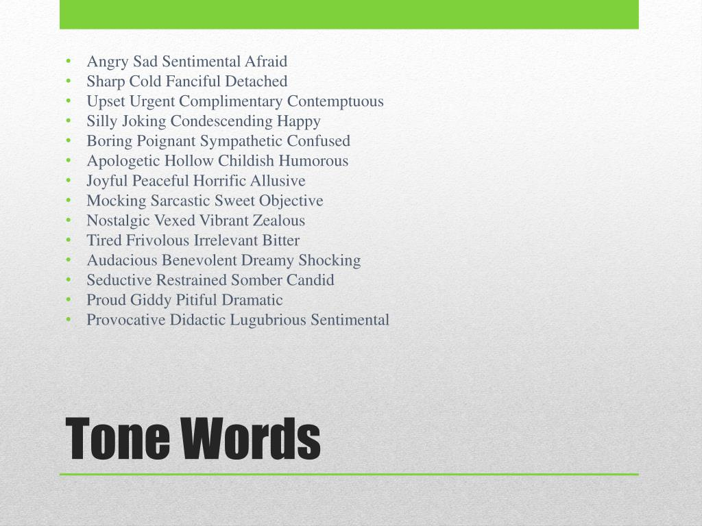 PPT - TONE AND D I D L S  PowerPoint Presentation - ID:2489720