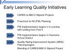 early learning quality initiatives