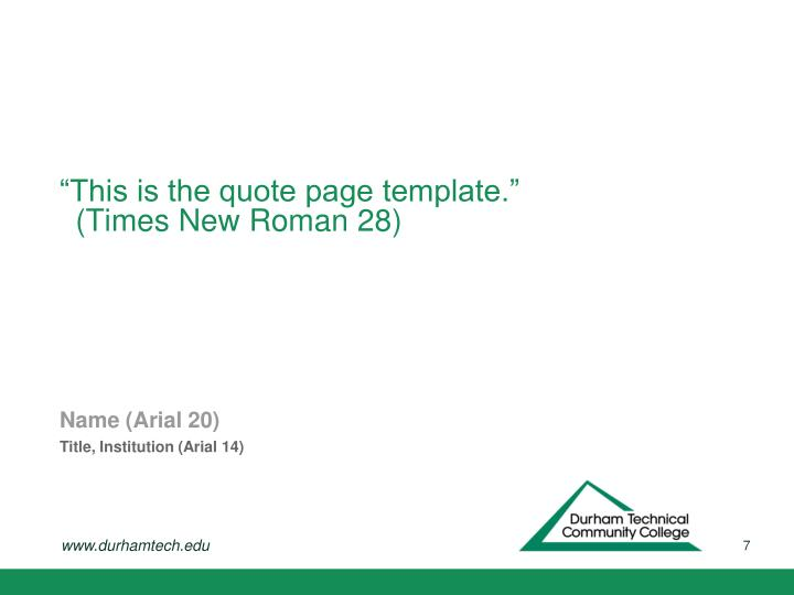 """""""This is the quote page template."""""""