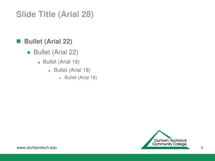 Slide title arial 28