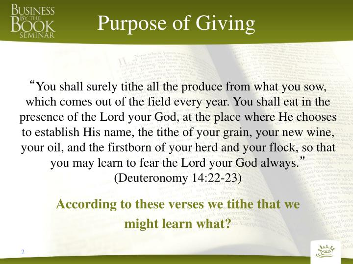 Purpose of giving