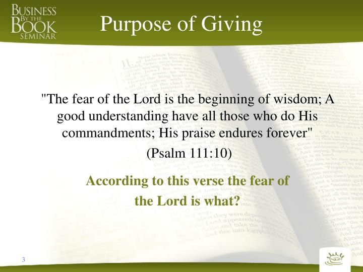 Purpose of giving1