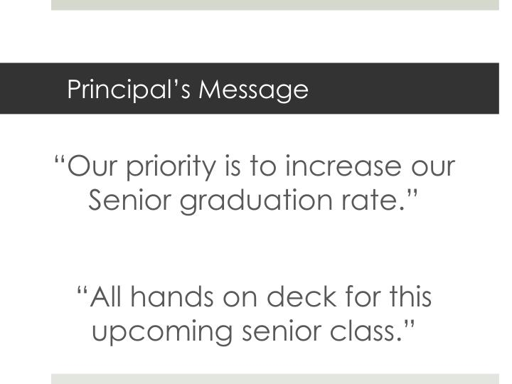 Principal s message