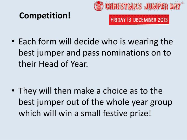 Competition!
