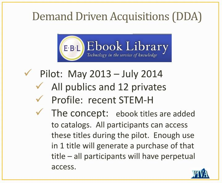 Demand Driven Acquisitions (DDA)