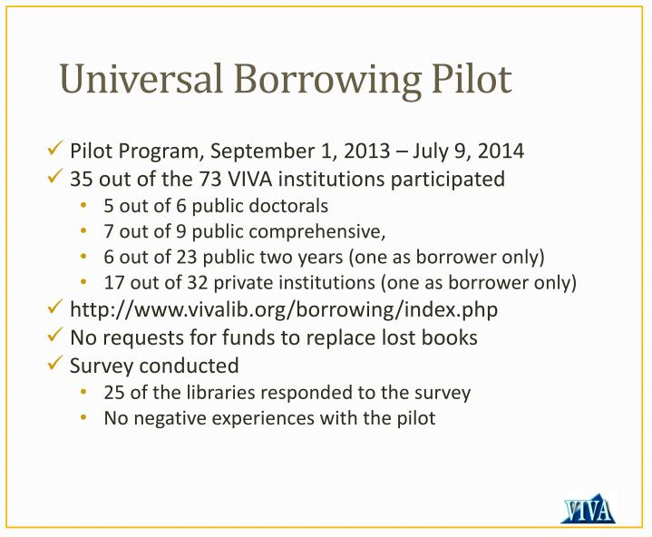 Universal Borrowing Pilot