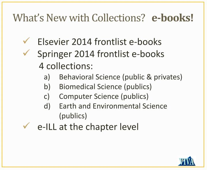 What's New with Collections?