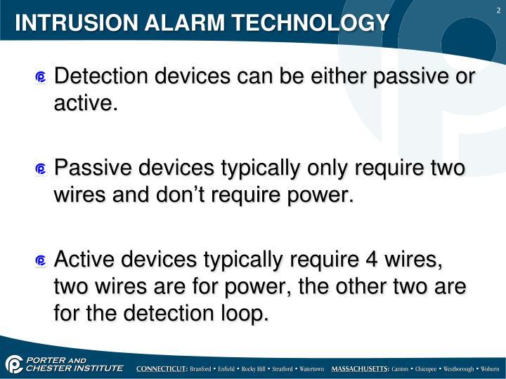 Intrusion alarm technology1