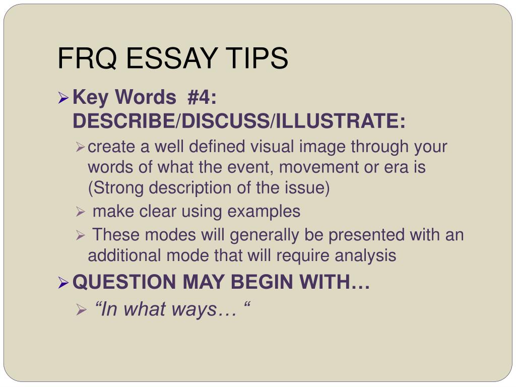 Frq thesis help
