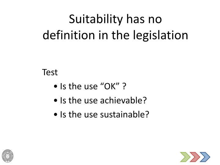 Suitability has