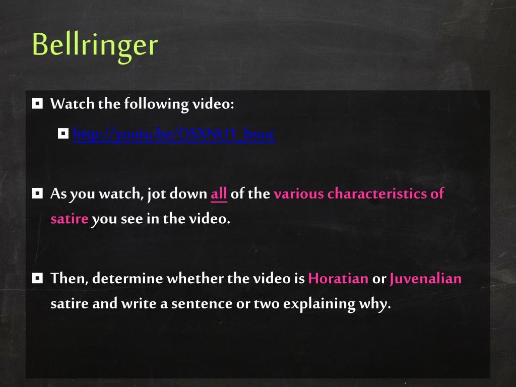Ppt Narrative Reading Satire Powerpoint Presentation Free