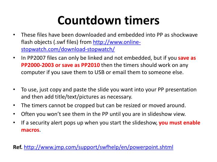 PPT - Countdown timers PowerPoint Presentation - ID:2490544