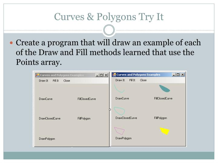 Curves & Polygons