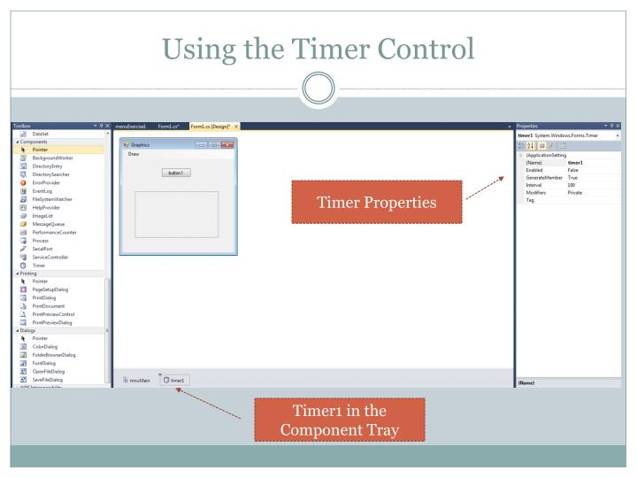 Using the Timer Control