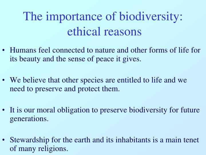 humans' moral obligation to preserve endangered