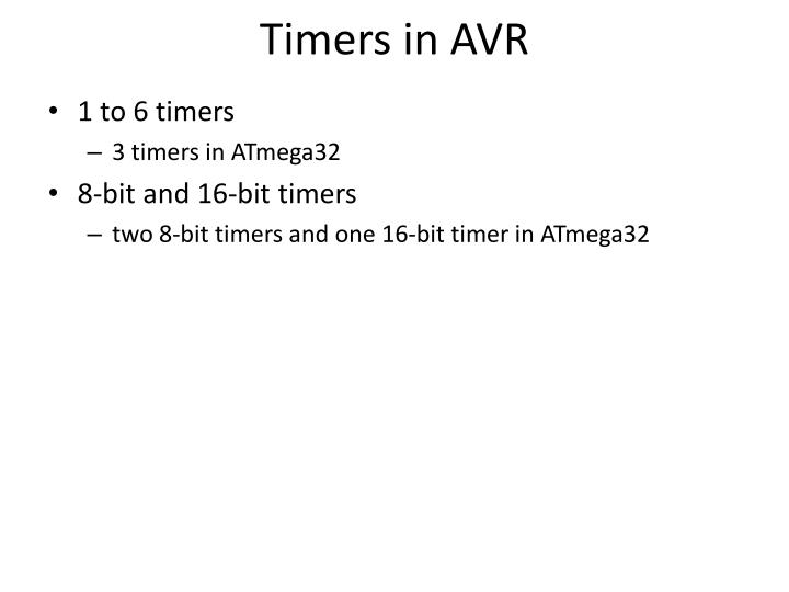 Timers in AVR