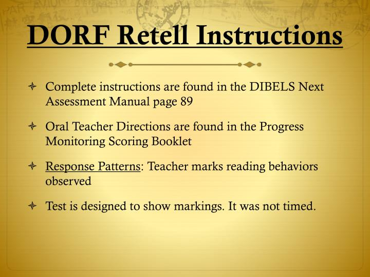 DORF Retell Instructions