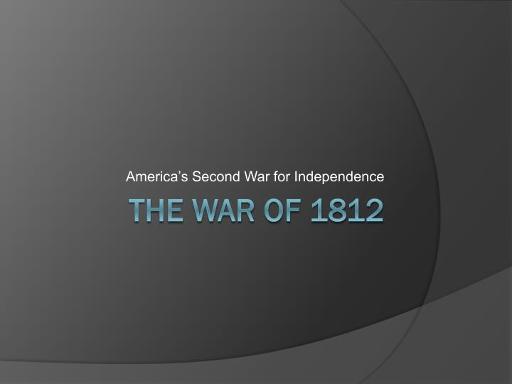 america s second war for independence n.
