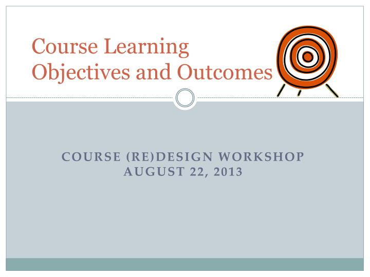 course learning objectives and outcomes n.