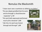 romulus the blacksmith