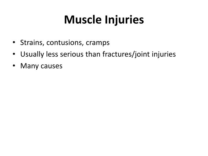 Muscle Injuries