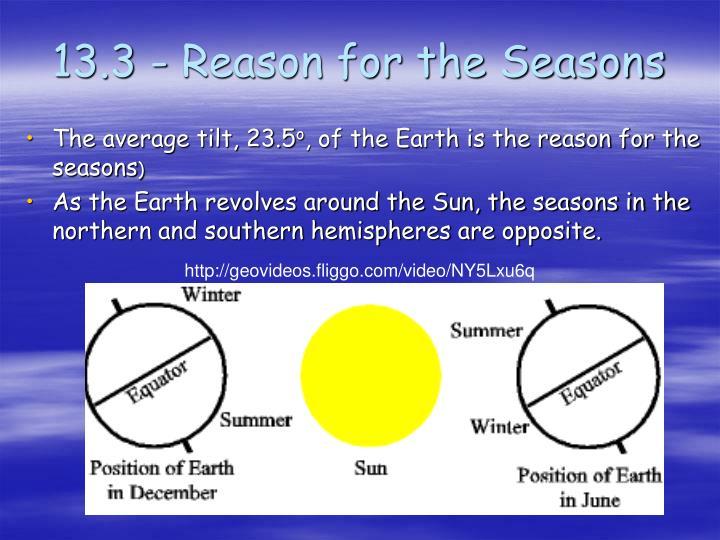 13.3 - Reason for the Seasons
