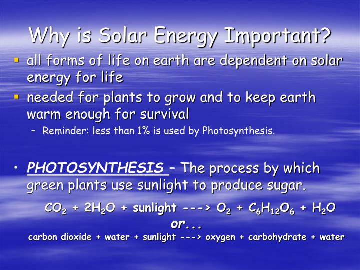Why is Solar Energy Important?