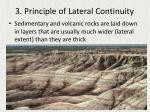 3 principle of lateral continuity