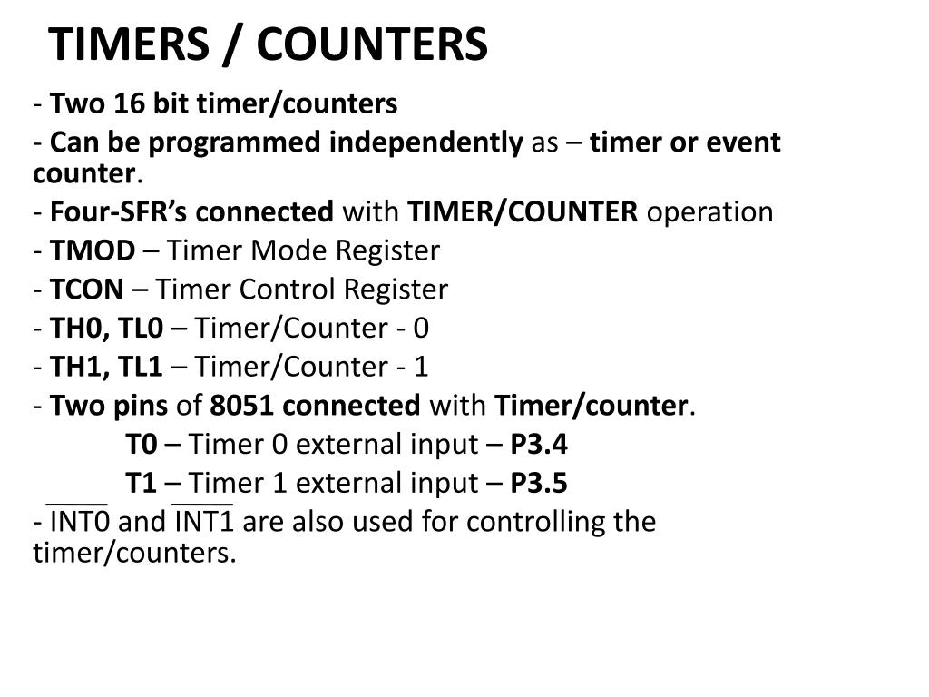 PPT - TIMERS / COUNTERS PowerPoint Presentation - ID:2490884