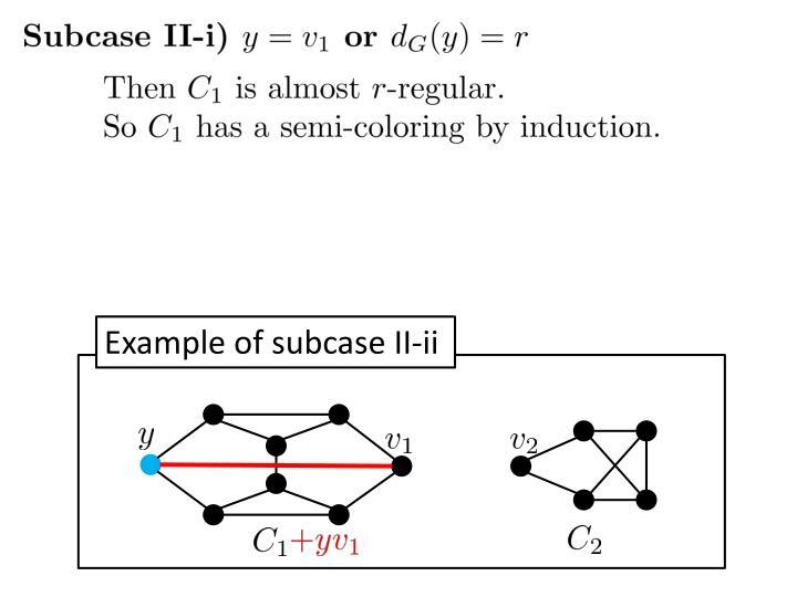 Example of subcase II-ii