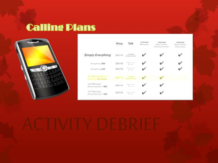 Calling Plans