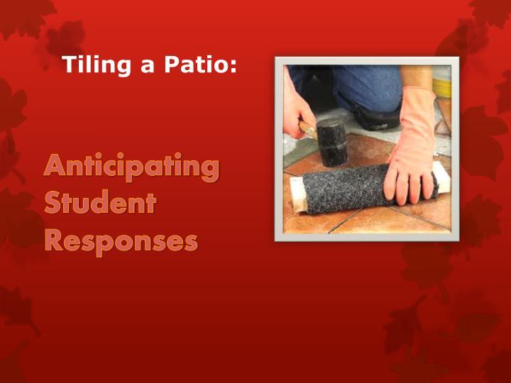Tiling a Patio: