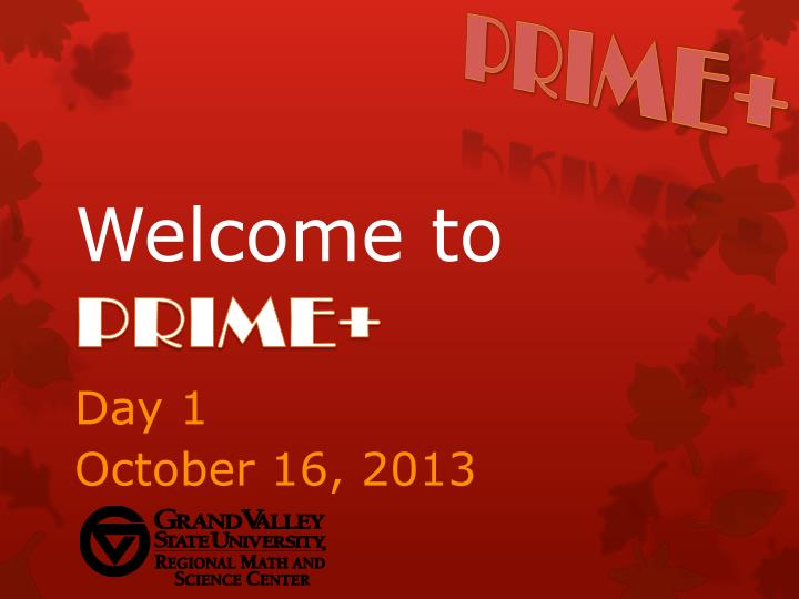 Welcome to prime
