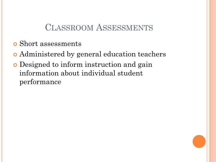 Classroom Assessments