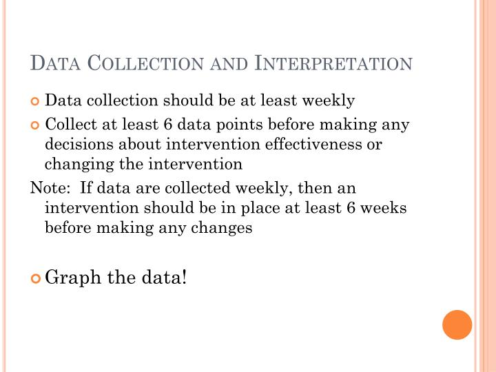 Data Collection and Interpretation