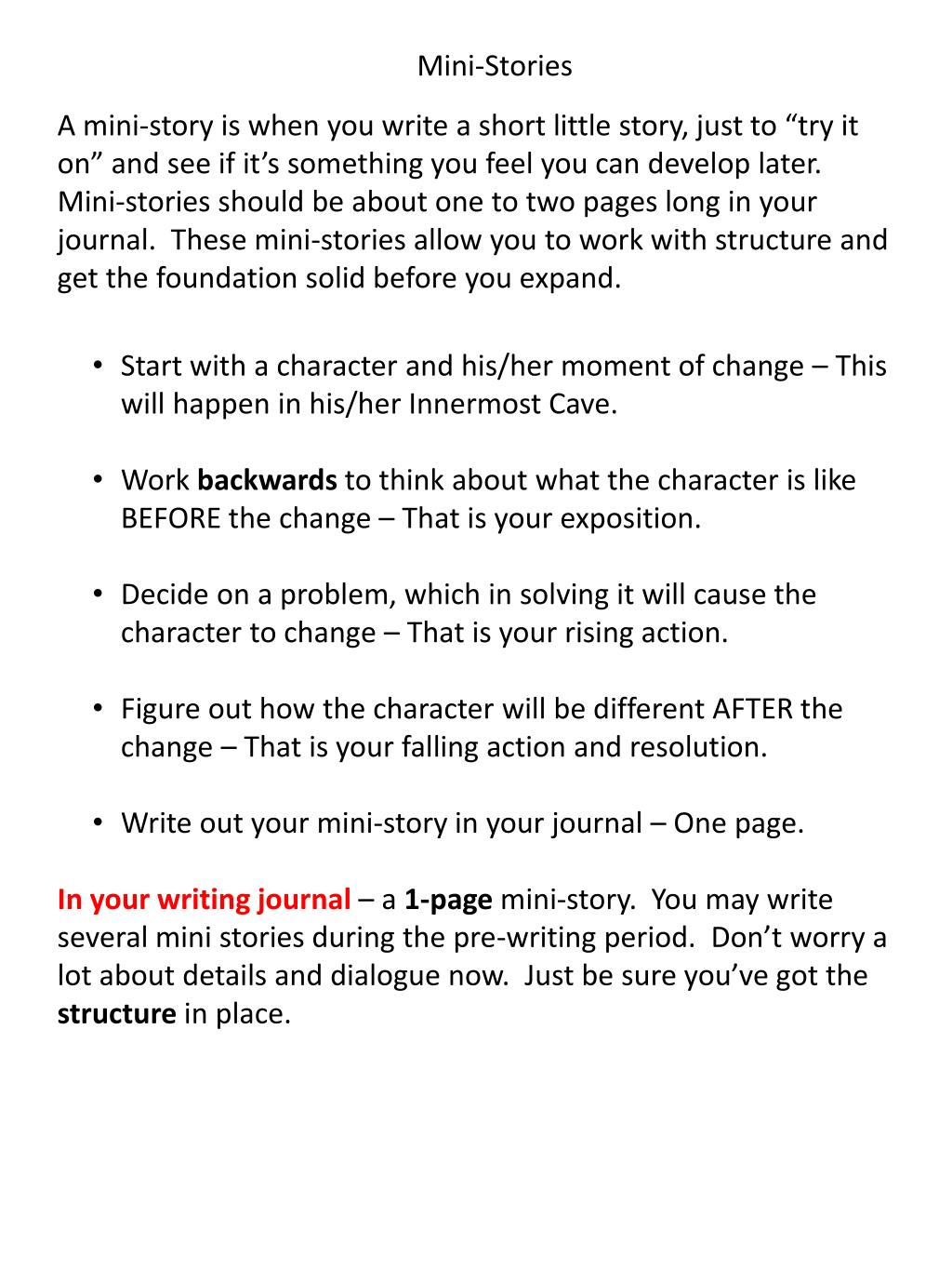PPT - Steps for Writing a Short Story PowerPoint Presentation - ID