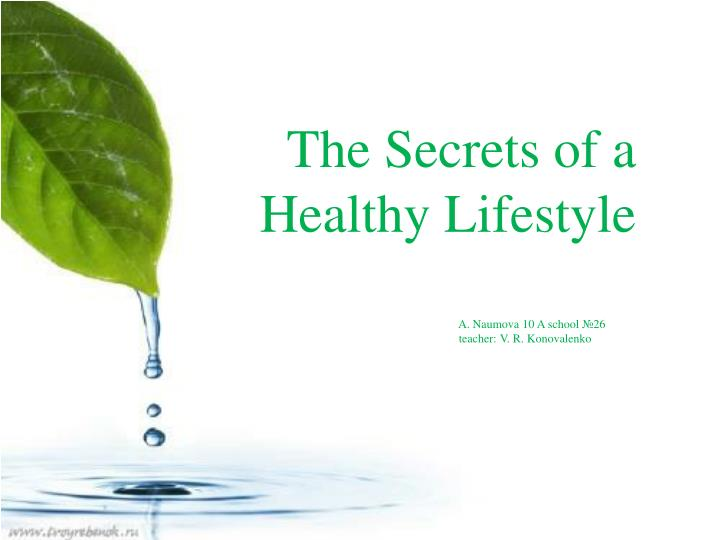 the secrets of a healthy lifestyle n.
