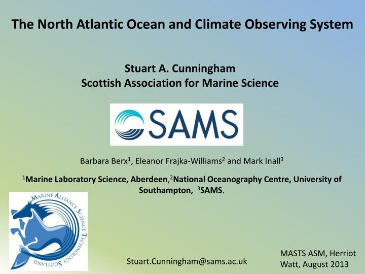 the north atlantic ocean and climate observing system n.