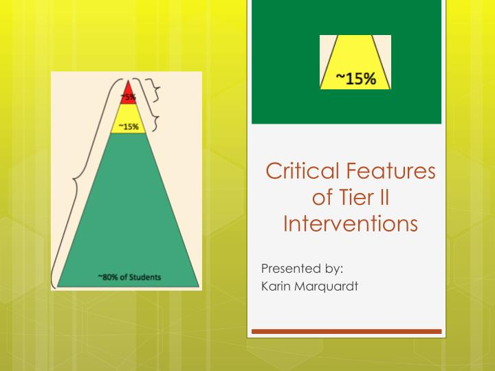 critical features of tier ii interventions n.
