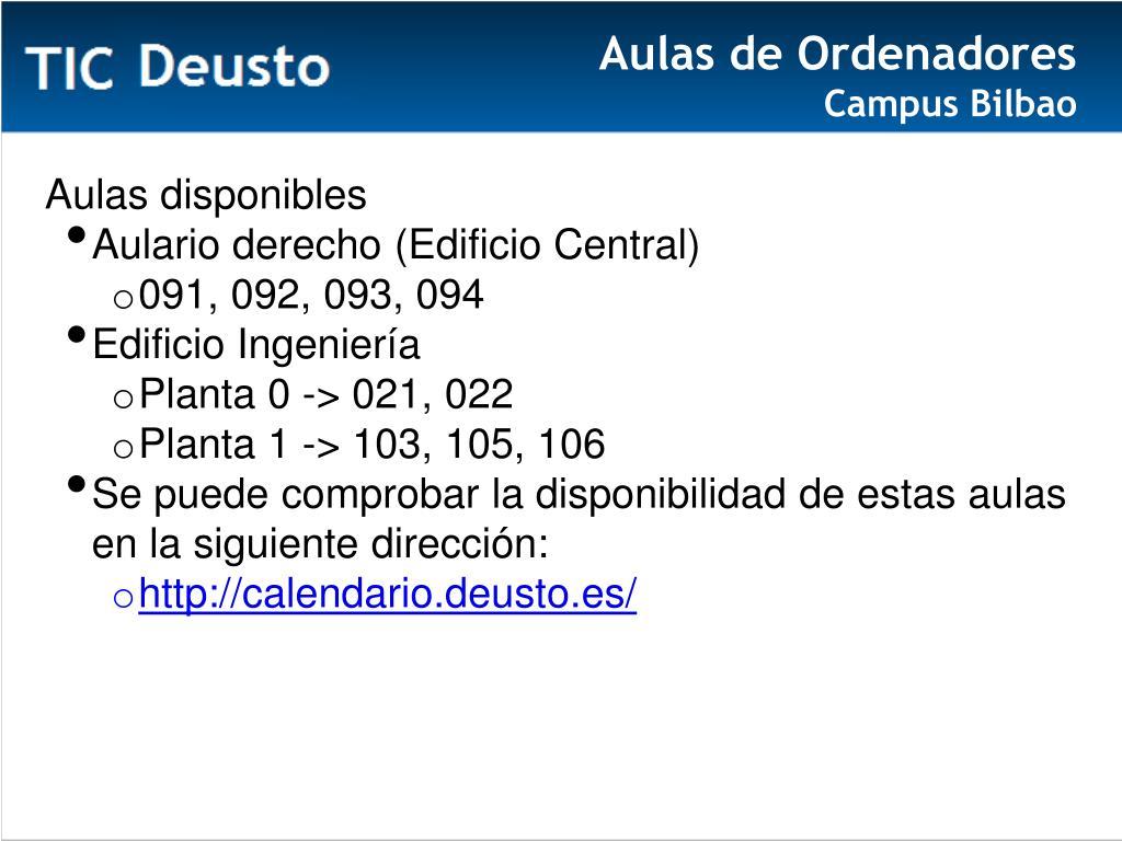 Calendario Deusto.Ppt Universidad De Deusto Septiembre 201 3 Powerpoint