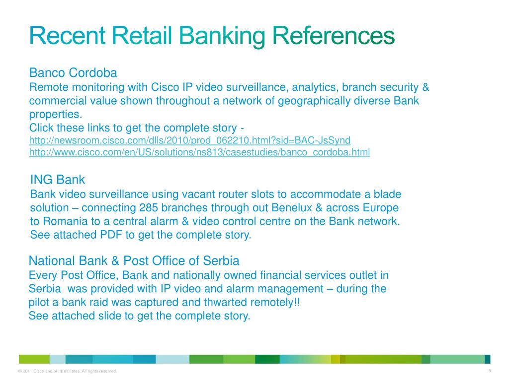 PPT - Safety & Security Solutions for Retail Banking