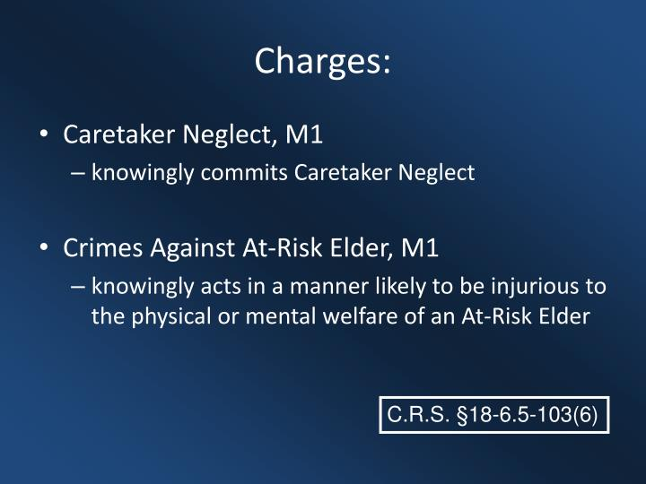 Charges: